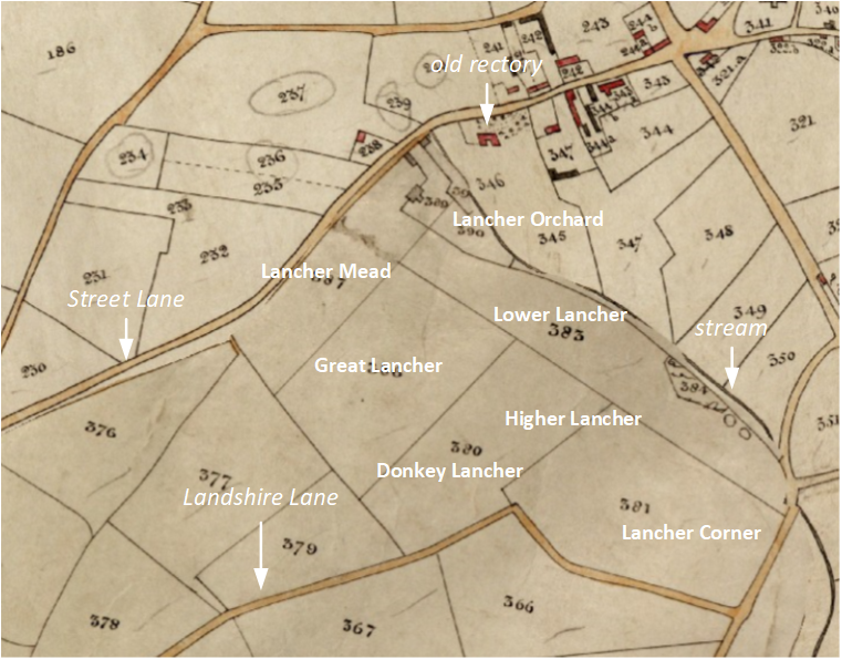 annotated tithe map of east chinnock