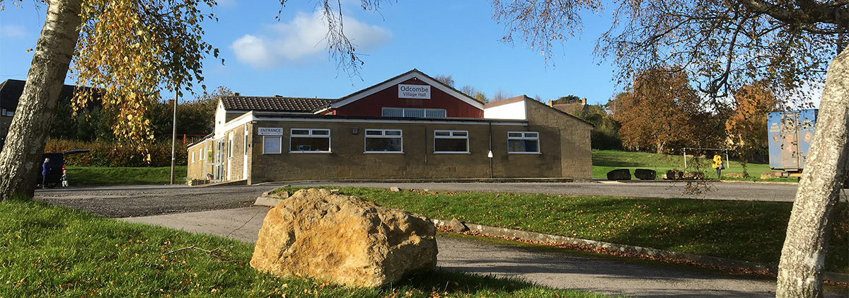 village hall exterior in autumn